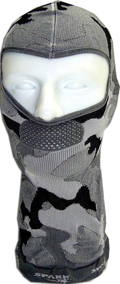 Spark Dryarn Camo silver black balaclava
