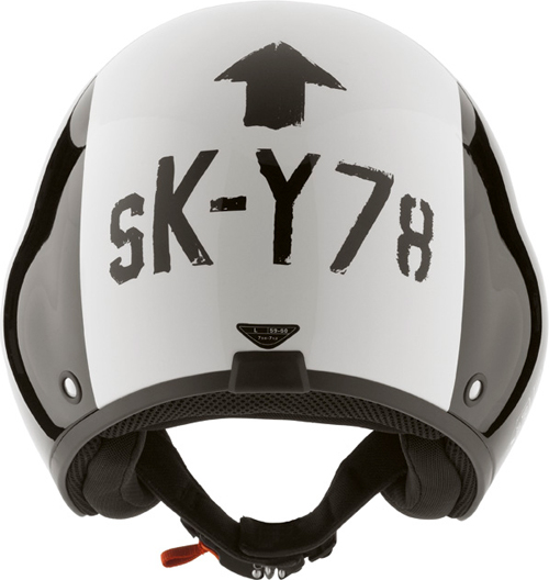 Casco moto Diesel Hi-Jack Multi SK-Y 78 nero-bianco