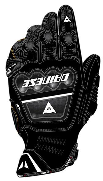 Dainese Druids S-ST leather gloves black-black-black