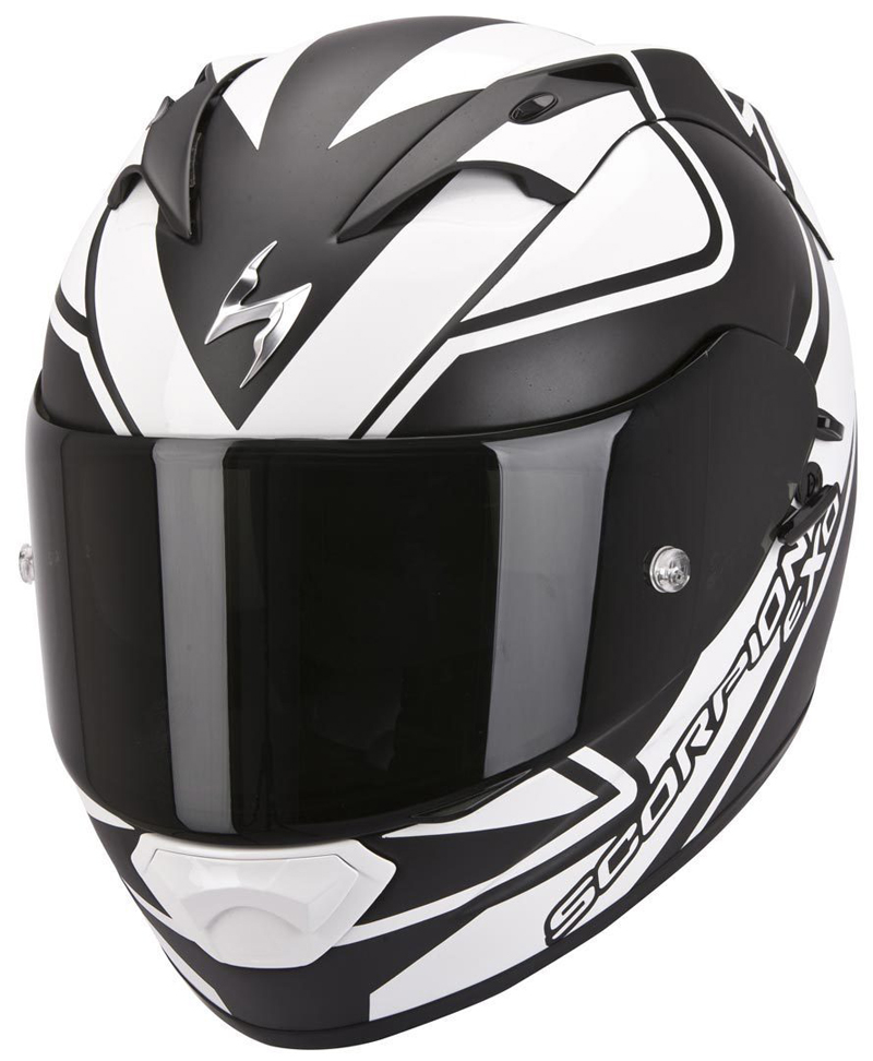 Casco integrale Scorpion Exo 1200 Air Freeway nero bianco opaco