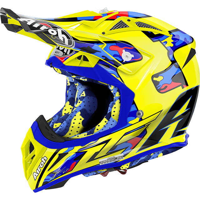Casco cross Airoh Aviator 2.2 TC16 lucido