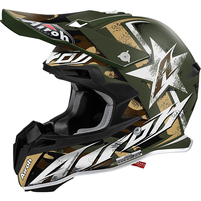 Casco cross Airoh Terminator 2.1 Ground verde opaco