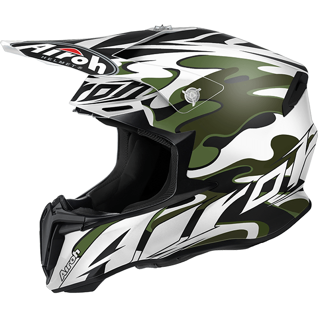 Casco cross Airoh Twist Mimetic bianco opaco