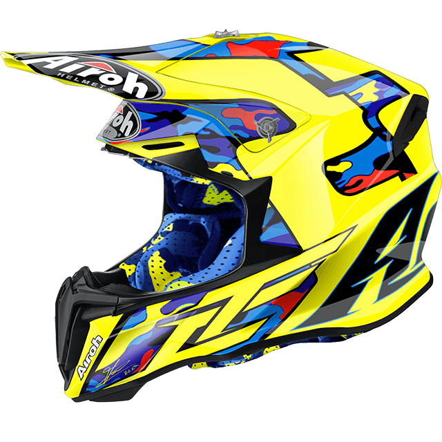 Casco cross Airoh Twist TC16 lucido