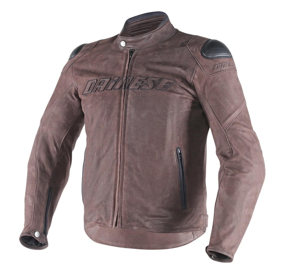 Giacca moto pelle estiva Dainese Street Rider Testa di Moro