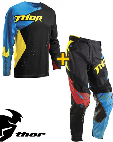 Kit Cross Thor Core Air Divide - Maglia+ Pantaloni - nero multi