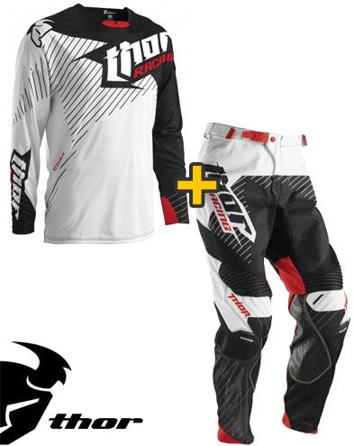 Kit Cross Thor Core Hux - Maglia+ Pantaloni - bianco nero