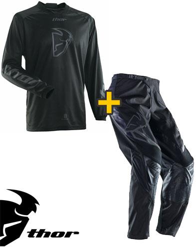 Kit Cross Thor Phase Blackout - Maglia e Pantaloni - neri