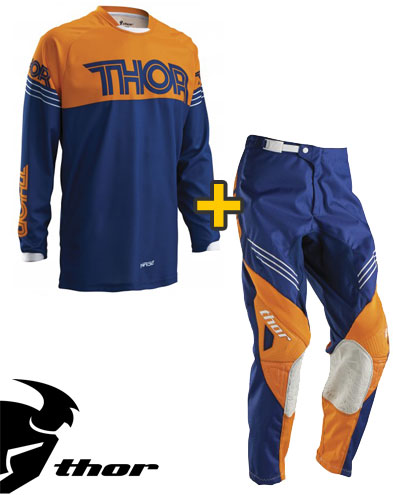 Kit Cross Thor Phase Hyperion - Maglia e Pantaloni - navu arancio