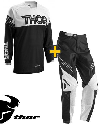 Kit Cross Thor Phase Hyperion - Maglia e Pantaloni - nero bianco