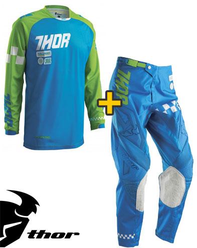 Kit Cross Thor Phase Ramble - Maglia e Pantaloni - blu verde