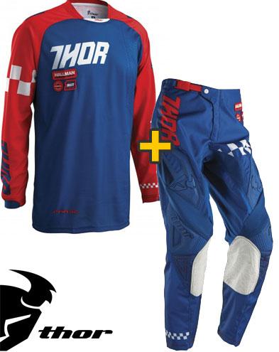Kit Cross Thor Phase Ramble - Maglia e Pantaloni - navy rosso