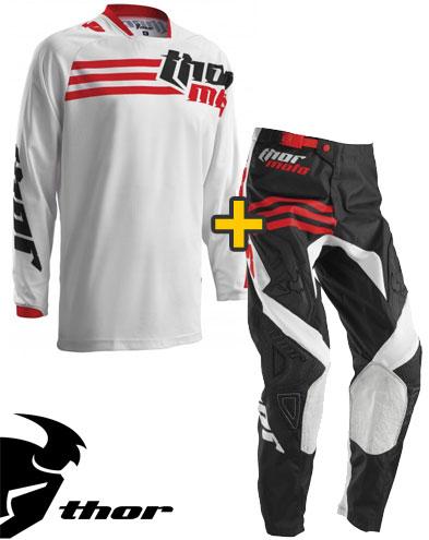 Kit Cross Thor Phase Strands - Maglia e Pantaloni - bianco rosso