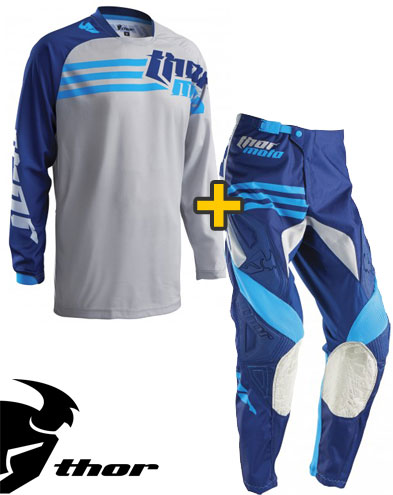 Kit Cross Thor Phase Strands - Maglia e Pantaloni - cement navy
