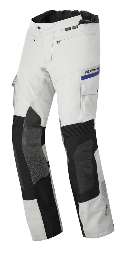 Pantaloni moto Rev'it Dominator GTX Grigio chiaro Nero Accorciat