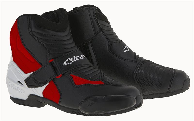 Stivali moto Alpinestars SMX-1 R nero bianco rossi