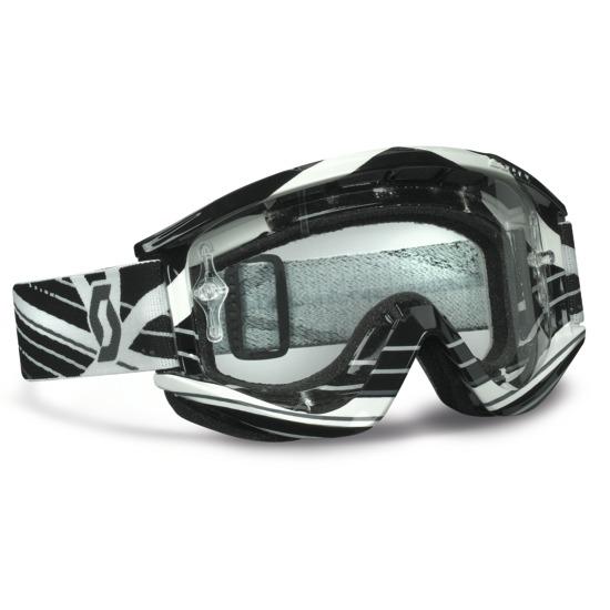 RecoilXI Pro Grid Lock cross goggles Black White