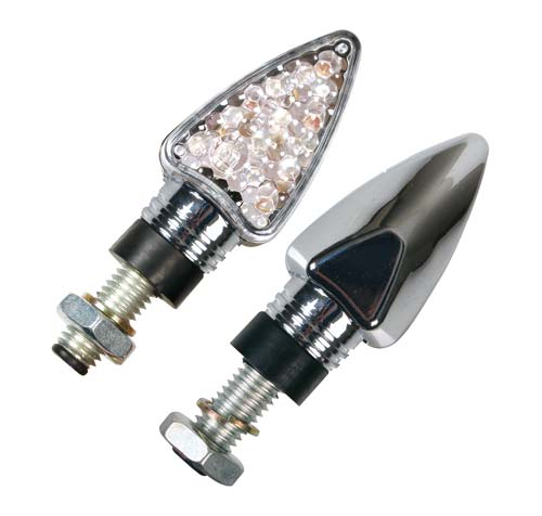 led corner lights Arrow chrome Lampa