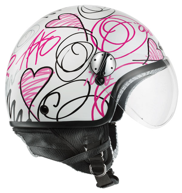 Casco jet AXO Subway Rosa