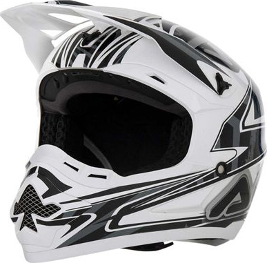 Motocross helmet Acerbis Basic White