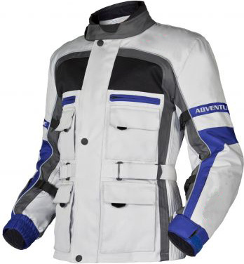 Adventure motorcycle jacket grey-anthracite-blue