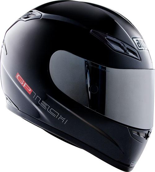 Agv Gp-Tech Mono gloss black full-face helmet