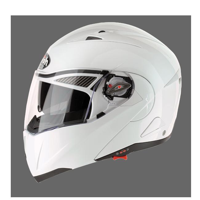 Casco moto modulare Airoh Cezannee XR Color Bianco Lucido