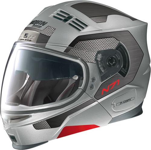 NOLAN N71 S2 N-com flip-up helmet col. flat arctic grey