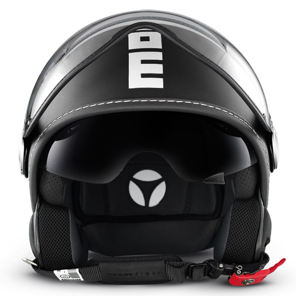 Momo Design Fighter jet helmet Matt Black White