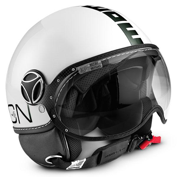 Momo Design Fighter jet helmet gloss White Black