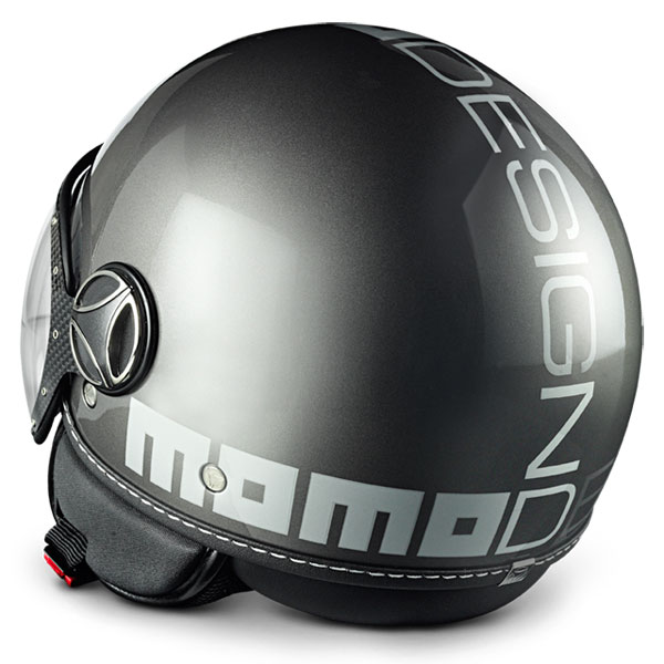 Fighter Jet Helmet Momo Design Titanium polished silver