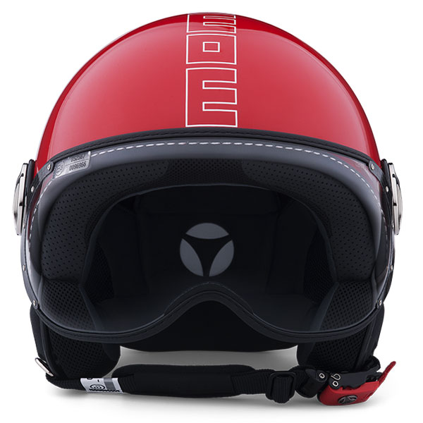 Jet Helmet Momo Design Fighter Glam Red Glossy