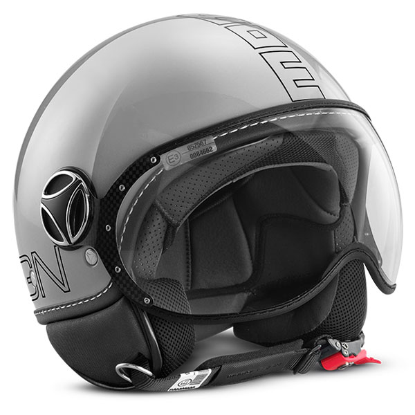 Fighter Jet Helmet Momo Design Glam Gray Polished