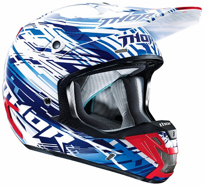 Thor Verge Twist Cross helmet blue