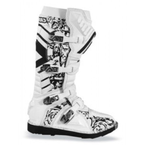 Acerbis Motocross Boots White Graffiti