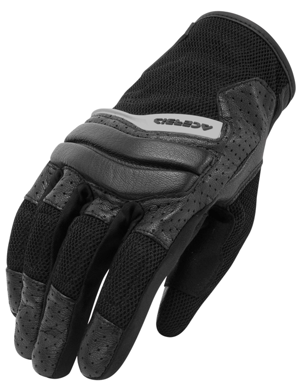 Gloves Acerbis woman leather and fabric Brandish Lady Black