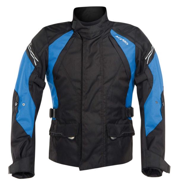 Giacca moto Acerbis Bray Hill Nero Blu