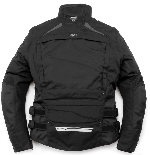 Motorcycle jacket with removable sleeves Black Acerbis Peel