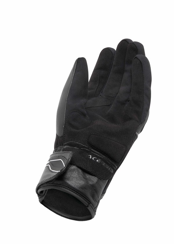 Black Leather Gloves Acerbis Balling
