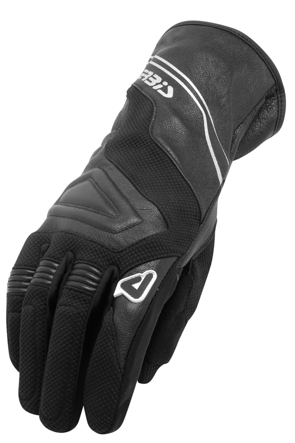 Gloves leather and fabric corner Windy Acerbis Black