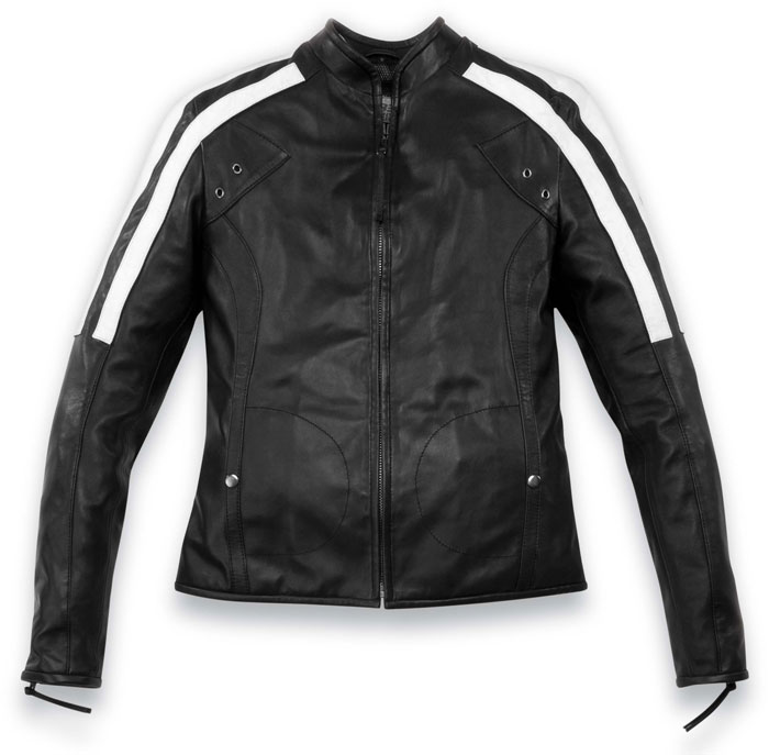 Black leather motorcycle jacket Acerbis Hollywood