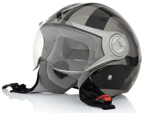 Urban motorcycle helmet jet Jet Grey Black Acerbis