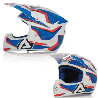 Acerbis Motocross Helmet Fiber Atomik Blue