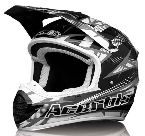 Acerbis Motocross Helmet Black Atomik