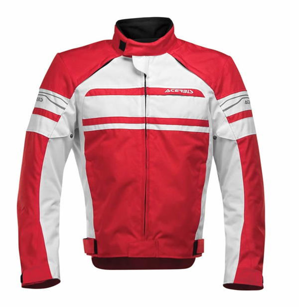 Red motorcycle jacket Acerbis Clypse