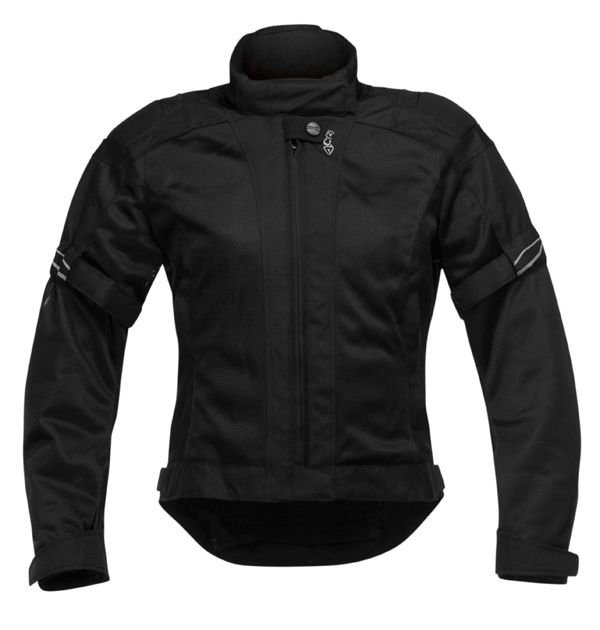 Colby Acerbis Vented Motorcycle Jacket Women Lady Black