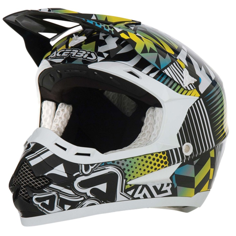 Acerbis Motocross Helmet Revolution Green / White