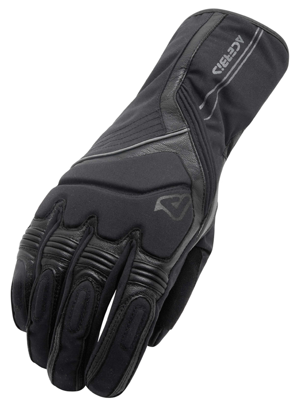 Gloves Women's Black Leather Acerbis Cronk