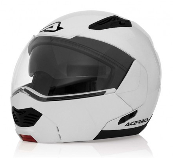 Sulby modular motorcycle helmet white Acerbis