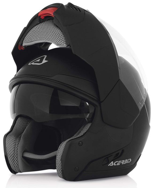 Sulby Black Modular Motorcycle Helmet Acerbis